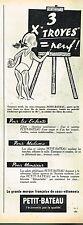 D- Publicité Advertising 1958 Sous vetements pour enfants Petit bateau