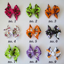 "50 BLESSING Good Girl 2.5"" Wing Hair Bow Clip Halloween Accessories Wholesale"