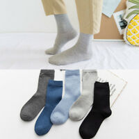 5 Pairs Mens Business Classic Style Solid Crew Quarter Dress Cotton Casual Socks