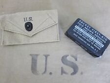 US Army Associazione pacco CUSTODIA + First Aid condimenti KIT POUCH PISTOL BELT m1936