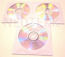*NEW* 3x Verbatim 96577 DVD+R DL 8.5GB 2.4X Xbox 360 Made Singapore AZO DISC LOT