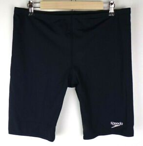 "Speedo Endurance+ Jammer Swimsuit Mens Size 40 Navy 9.5"" Inseam UPF 50+"