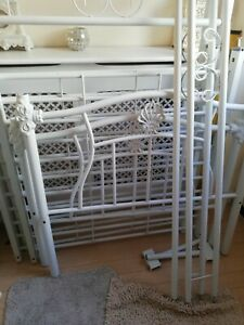 Single Four 4 Poster Bed Frame Ornate Rococo French Collection Only DN21 cash