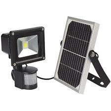 10W LED Luz De Inundación Seguridad Brillante Accionado Solar + Sensor de movimiento PIR Impermeable