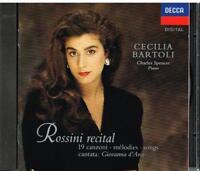 Cecilia Bartoli : Rossini Recital 19 Chansons/Charles Spencer Piano - CD