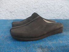 COUNTRY ROAD OLIVE GREEN GENUINE SUEDE/LEATHER LINED LOW WEDGE SSHOES-SZ 37/6.5