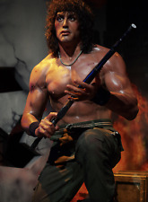 Life Size Sylvester Stallone Rambo Wax Statue Realistic Prop Display Figure 1:1