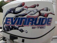Evinrude V6 E-Tec USA Flag Splash Decal Kit