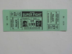 ROCKY MARCIANO vs MUHAMMAD ALI Boxing Ticket 1970 Computer Fight Cassius Clay NR