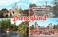 1972 Disneyland Postcard Mark Twain Jungle Cruise Tomorrowland DT-35918-C AR
