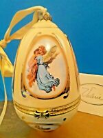 "ANGEL + CHILD MUSIC BOX ☆4"" PORCELAIN☆MR.CHRISTMAS☆CLASSIC PIANO MUSIC☆+ORIG.BOX"