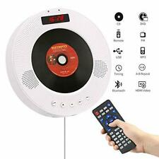 YOOHOO Portable Bluetooth DVD/CD Player,1080p Wall-Mounted HDTV Speaker with Rem
