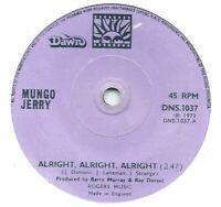 "Mungo Jerry – Alright, Alright, Alright  7"" vinyl 45rpm single"
