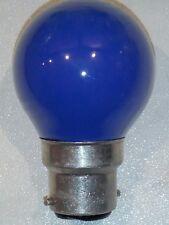 Ampoule sphérique incandescente B22 15W bleu poudré SYLVANIA SUDRON Noël