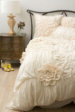 ANTHROPOLOGIE GEORGINA CREAM KING DUVET COVER *BRAND NEW*