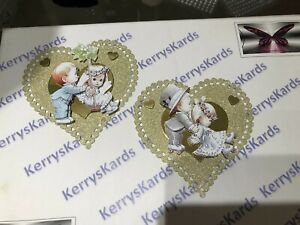 2 x Decoupage Pictures of Moorehead Wedding Children Theme Toppers