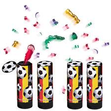 Deutschland Fanartikel Party Popper Konfetti Kanone 4er-Set Fussball WM EM