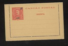 Guine      nice postal  letter card  unused  pristine      MS0622