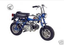HONDA Poster Classic Z50A Z50 Monkey Bike Mini Trail Suitable 2 Frame BLUE