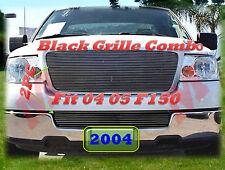 04 05 2004 2005 Ford F150 F-150 Black Billet Grilles Upper & Bumper