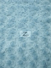 """ROSE/ROSETTE MINKY FABRIC - Baby Blue - 58/60"""" WIDE BY THE YARD BABY SOFT FUR"""