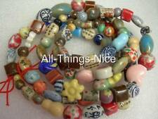 PORCELAIN CERAMIC 99 Spacer Beads Bracelet Necklace Jewellery Making Findings