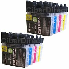 8 ink cartridges for BROTHER DCP-J715W / DCPJ715W