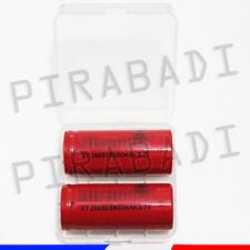 2 PILES ACCUS RECHARGEABLE 26650 6800mAh 3.7V Li-ion + BOITE DE RANGEMENT