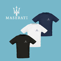 Maserati T Shirt EMBROIDERED Auto Car Logo Tee Sport Mens Clothing Accessories