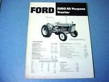 Ford 2000 Farm Tractor brochure                                               lw