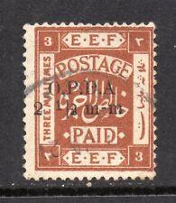 1919 Palestine E.E.F. Bft:197 2&1/2m-m on 3m Brown O.P.D.A. Fine Used Revenue.