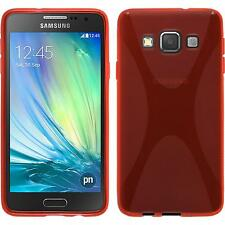Coque en Silicone Samsung Galaxy A3 (A300) - X-Style rouge + films de protection