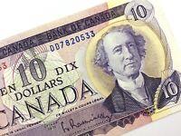 1971 Canada 10 Dollar Ten Dollar Uncirculated DD Beattie Rasminsky Banknote R235