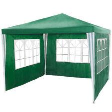 Pavillon Garten Party Camping Fest Event Zelt mit Seitenteile 3x3 m grün B-Ware