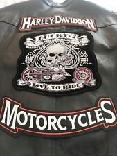 TOPPE PATCH RICAMATA TERMOADESIVA HARLEY DAVIDSON BIKERS CHOPPER