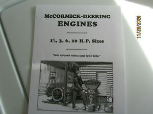 1925 McCormick Deering 1 1/2 to 10HP Gas-Kerosene Engine Mail Order Catalog