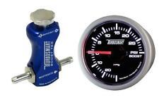 Controlador de refuerzo de manual Turbosmart azul y Turbosmart 52mm Boost Gauge Psi