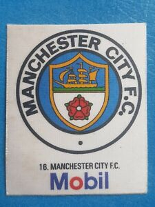 Mobil Football Club Badges Silk 1983 Manchester City