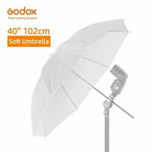"Godox 40"" 102cm White Soft Diffuser Studio Photography Translucent Umbrella for"