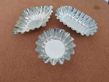VINTAGE FLUTED PASTRY TART CASES TEALIGHT HOLDERS X 3
