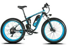"26"" Blue Fat Tire Electric Snow Bike 48V 1000W XF800-BL"