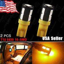 2X Amber/Yellow T10Side Wedge 5630 10SMDLED Backup Reverse Turn Light