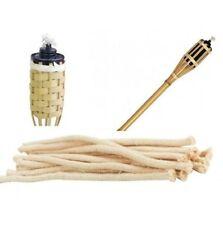 Set 8 Stoppini Di Ricambio Cm 19 Per Torce Lampade Ad Olio Da Esterno Bamboo dfh
