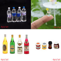 4X Dollhouse Miniature Mini Cup Water Bottle Toy Home Decor 1/6 1/12 Scale Model