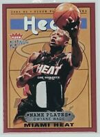 2003-04 Fleer Platinum Dwyane Wade Name Plates RPA Rookie card RC Jersey