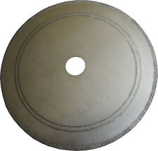 "DIAMOND LAPIDARY NOTCHED RIM SAW BLADES - 200mm (8"") SET OF 3 WITH FREE BUSHING!"