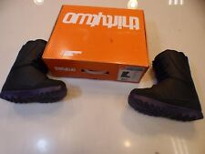 NEW WMNS 32 LASHED SIZE 8 THIRTY TWO SNOWBOARD BOOT Black/Purple