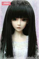 BJD Doll Hair Wig 9-10 inch 22-24cm black 1/3 SD DZ DOD LUTS Straight long