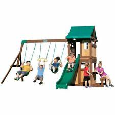 Backyard Discovery 2001022 Lakewood Wooden Playset Swing Set