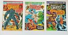 Marvel's Greatest Comics Lot of 3 #47,48,49- 1970's Fantastic Four Kirby